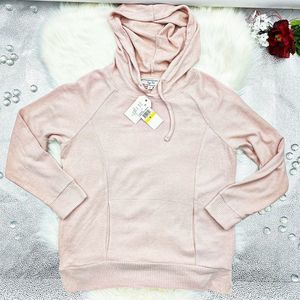 Hippie Rose Ivory Hooded long sleeve Sweater M